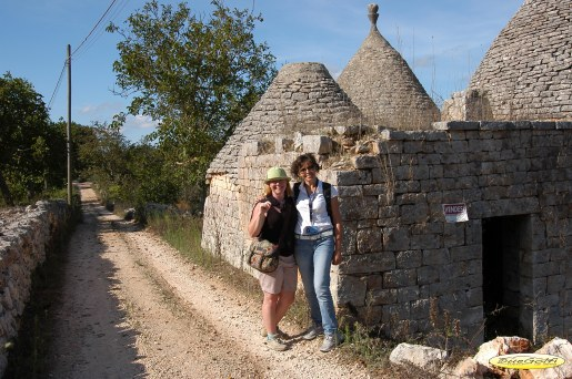 Janet and Samantha and the trulli