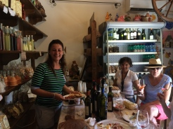 Antonella and the tasting - amazing flavours!