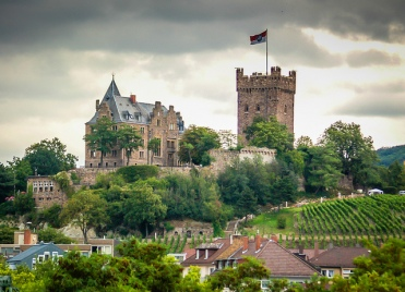 Castle at Bingen, River Rhine
