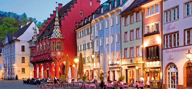 The old town of Freiburg