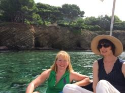 The coast near Punta Licosa, Janet and Belinda