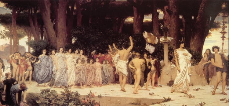 The Daphnephoria by Frederic Leighton, 1876 - this monumental canvas hangs in the Lady Lever Art Gallery, Port Sunlight, Wirral, Cheshire, UK