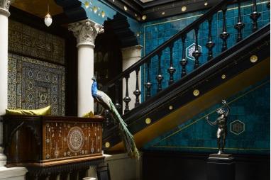 Spectacular Peacock Blue Hall