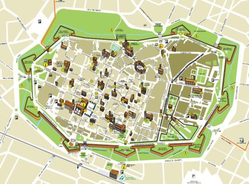 Lucca - the medieval walls surround the city