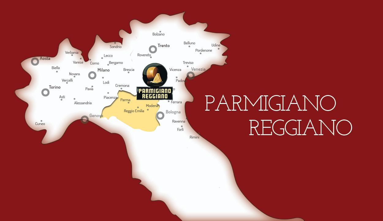 Parmigiano Reggiano Cheese Production Map – The Educated Traveller