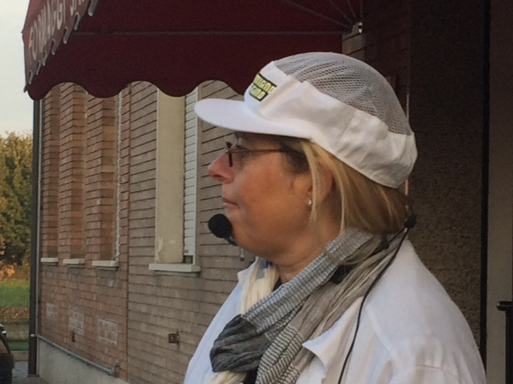 Anna - our lovely guide! Works for the marketing body that controls, promotes and monitors the production of high quality Parmigiano Cheese. www.educated-traveller.com