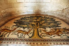 Mosaic of 'Tree of Life' at Hisham's Palace, Jericho
