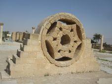 Carved stone window - Hisham's Palace
