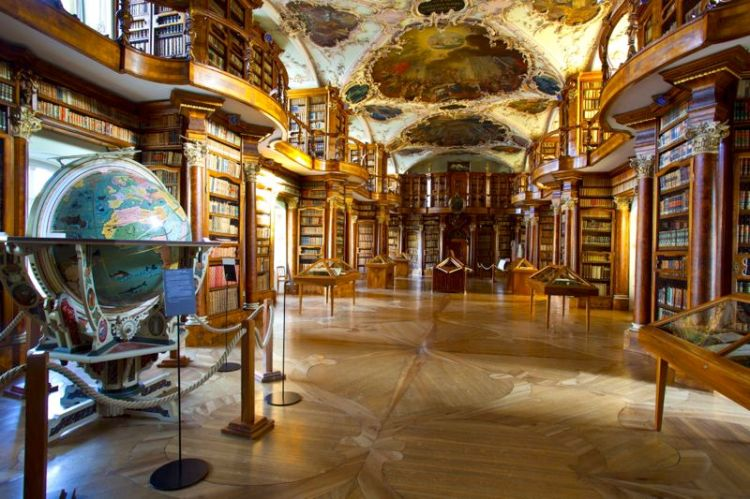 The Baroque Library and the Globe of St Gallen