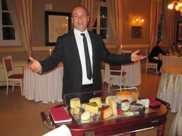 The hotel's sommelier and all round character.