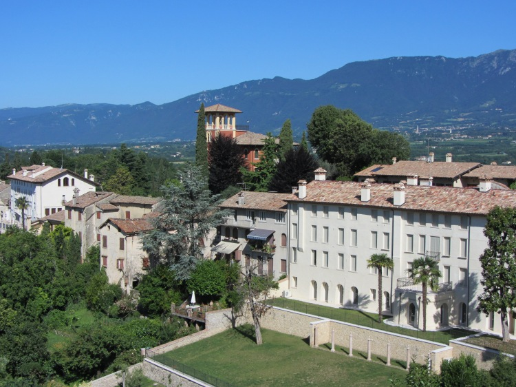 Asolo - nestling in the foot hills, Northern Italy