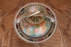 The exceptional facsimile copy of the Himmels Globe, Library of St Gallen, Switzerland