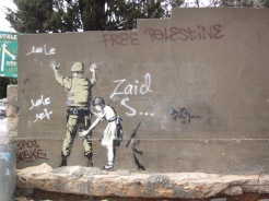 Banksy wall art - West Bank