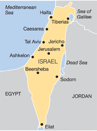 Israel - outline map
