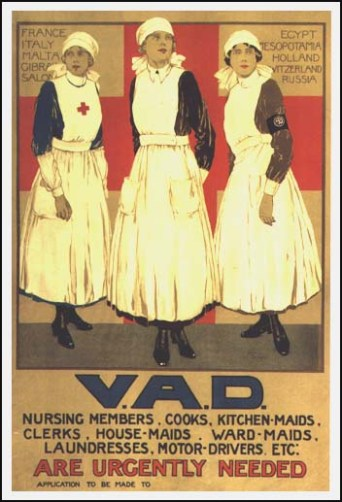 A poster to recruit young women in the VAD