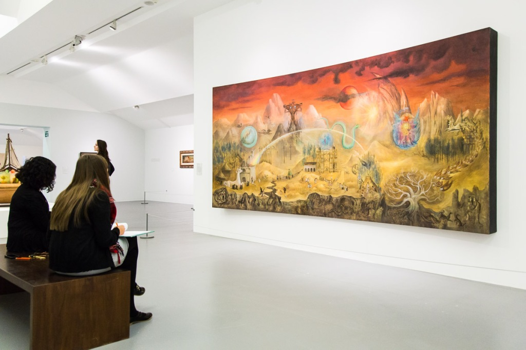 The Magical World of the Mayas - Leonora Carrington, 1964, commissioned by Anthropological Museum, Mexico City - researched in Chiapas, Southern Mexico. Haunting and evocative.