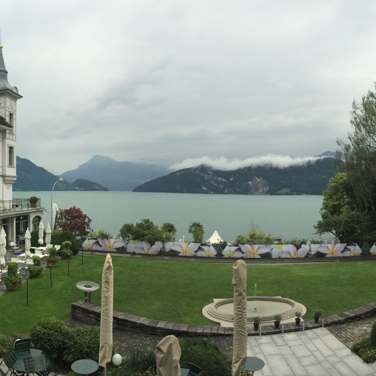 Panorama from Park Hotel, Weggis