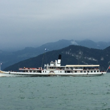 One of the traditional paddle steamers on Lake Lucerne