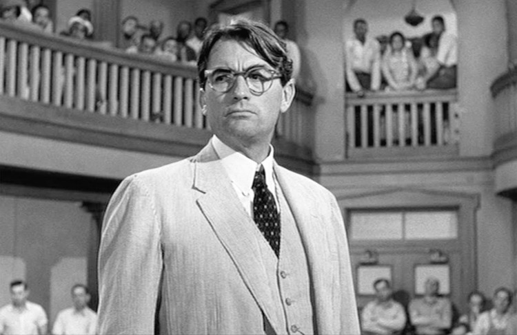 Atticus Finch in the Court Room