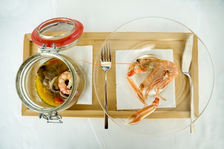 Fresh crustaceans from the Adriatic - in Kilner Jar