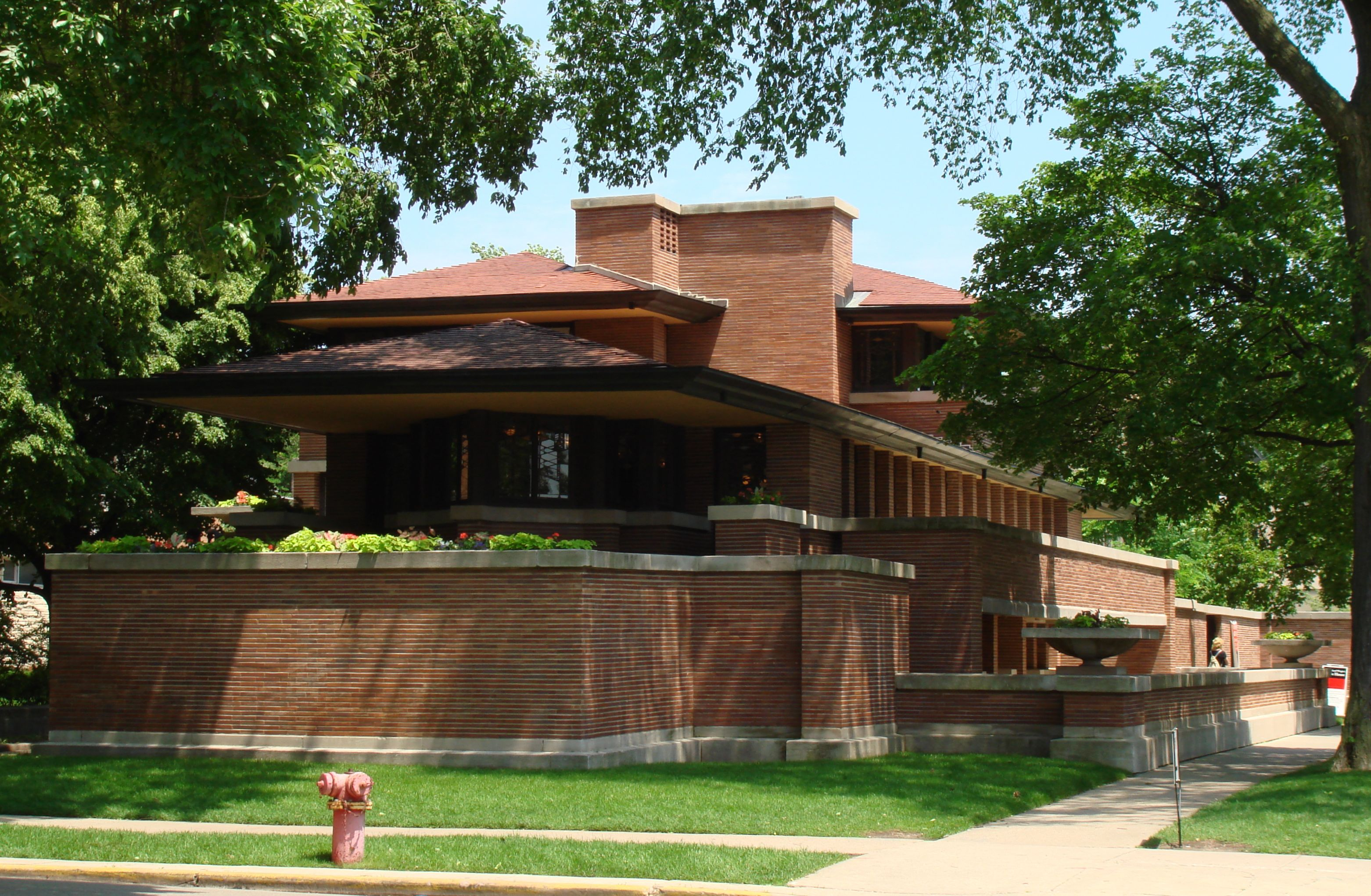 chicago the robie house and frank lloyd wright the. Black Bedroom Furniture Sets. Home Design Ideas