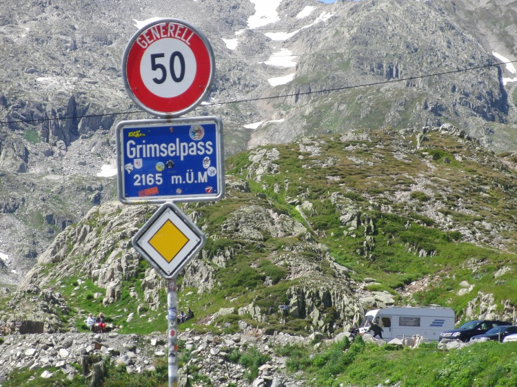 Grimsel Pass at 2165 m above sea level