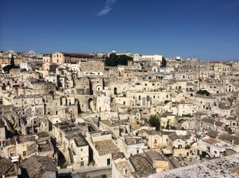 Cave dwellings in Matera