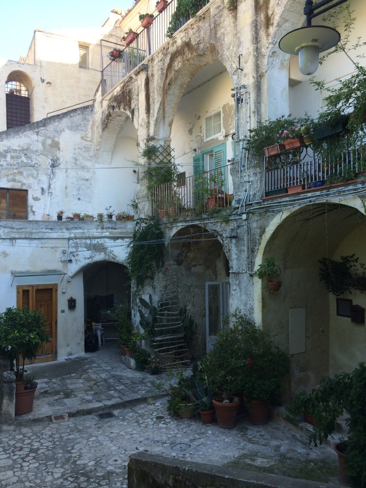 A courtyard in Matera