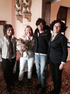Ilaria, Janet, Sasha, Carla, Giovanna at Villa Angarano