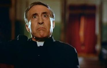 The local priest in charge of censoring the films