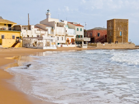 Montalbano - the beach at Punta Secca, Sicily