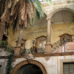A Baroque Palace Courtyard, Palermo