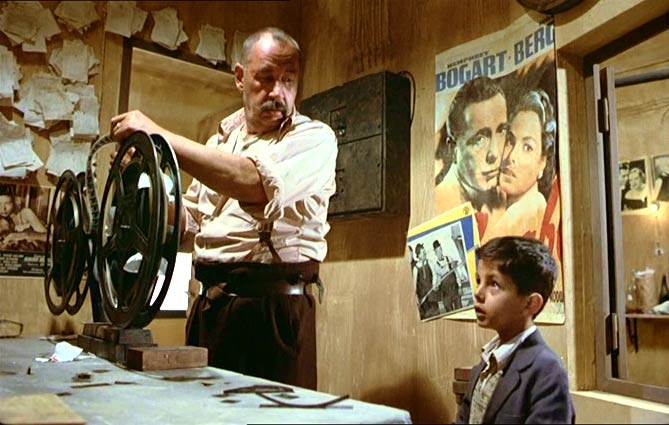Cinema Paradiso - Alfredo - the projectionist with Toto
