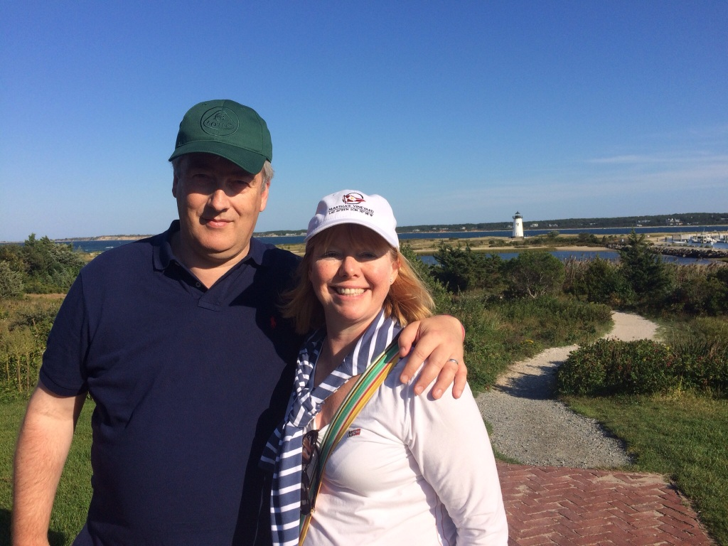 Janet and Andrew at the lighthouse