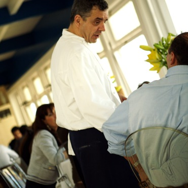 Mauro Uliassi personally chats to diners