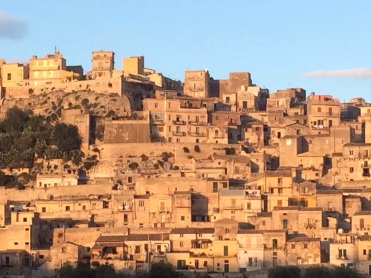 Modica in the evening sunshine
