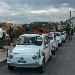 Fiat 500s in convoy