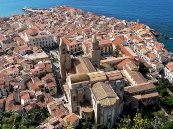 A bird's eye view of Cefalu