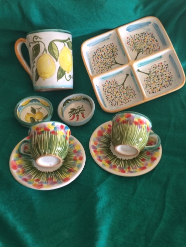 My purchases from Majolica, Taormina