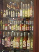 Limoncello and other liquors tempt the eyes....