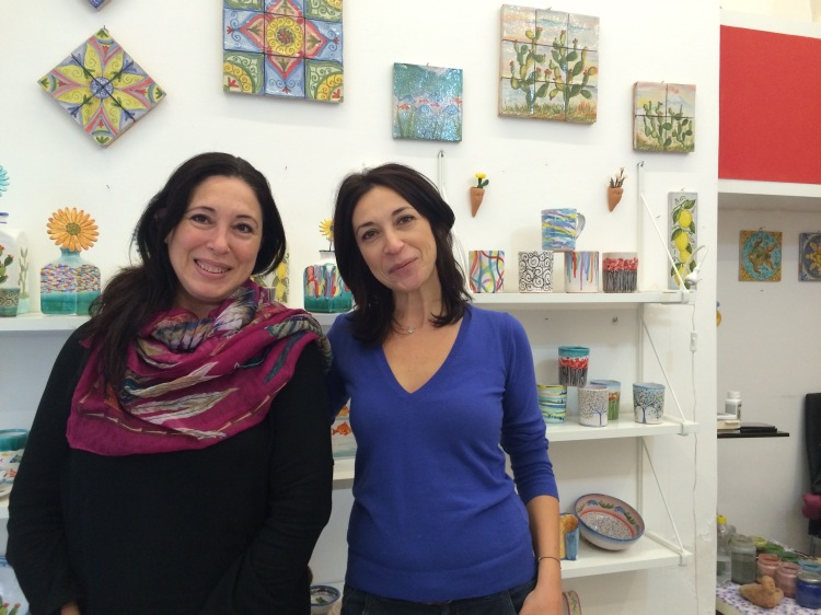 Sisters Elvira and Maria run their ceramics shop in Taormina