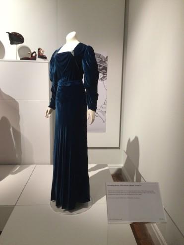 Mrs Bech's magnificent blue velvet gown