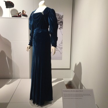 Mrs Bech's magnificent blue velvet gown