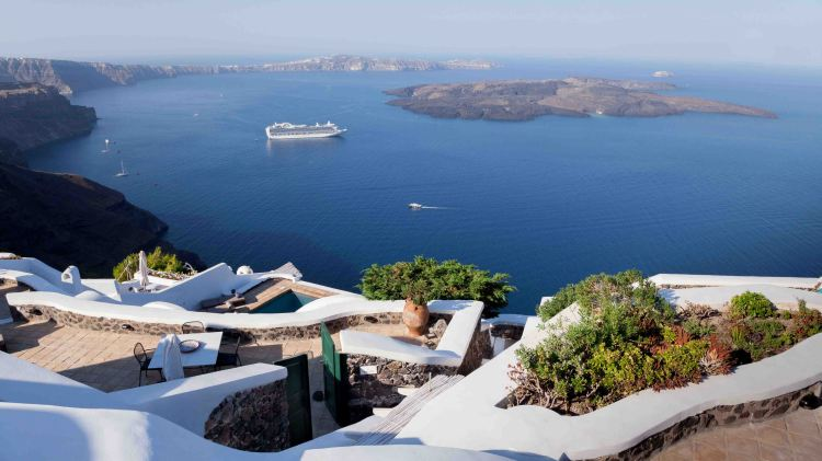 Santorini - views across the caldera