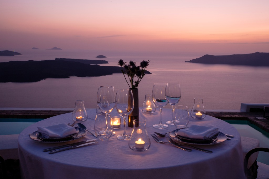 Vasilicos - romantic dinner for two..............