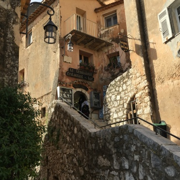 Eze village - stone staircase in medieval town