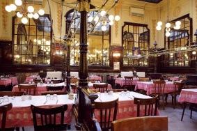 Typical Parisian bistro