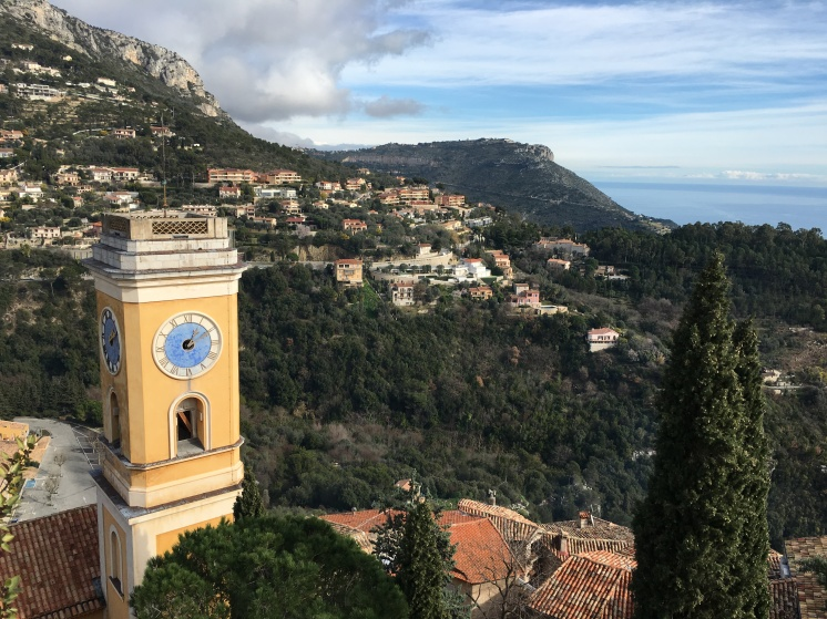 Eze village - looking down to the sea