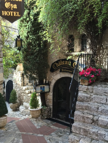 Eze village - entrance to Chateau Eza