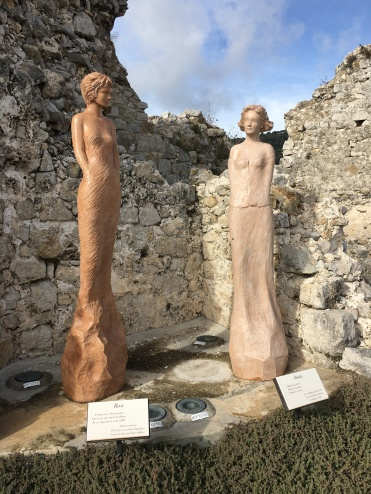 The statues that decorate the Botanical Gardens, Eze village